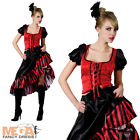 Saloon Girl Ladies Fancy Dress Western Moulin Rouge Can Can Womens Costume New