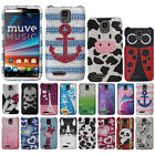 For ZTE Engage LT MT N8000 Skull Crystal Bling Snap On Hard Case Cover Accessory