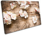 Cherry Blossom Pink Floral SINGLE CANVAS WALL ART Picture Print VA