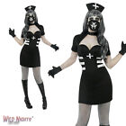 Halloween Fancy Dress # Ladies Delirium Nurse Black Dress Size 8-18