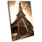 Eiffel Tower Vintage Architecture SINGLE CANVAS WALL ART Picture Print VA