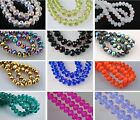 30pcs Faceted Glass Crystal Rondelle Finding Loose Spacer Beads 8x6mm 100 Color