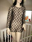 New Black white cream Floral Sheer Lace Tunic Top/Mini skater dress Goth Party
