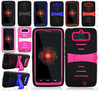 For Verizon Motorola Droid MINI XT1030 Hard Gel Rubber KICKSTAND Case Cover