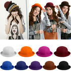 Classic Style Vintage Lady Vogue Women Wool Cute Trendy Bowler Derby Hat