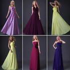 Beautiful Full-length Wedding bridesmaid Gown Prom Ball Formal Evening Dress