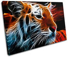 Tiger Abstract wild Animals SINGLE CANVAS WALL ART Picture Print VA