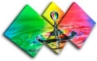 Rainbow Droplet Rainbow Abstract MULTI CANVAS WALL ART Picture Print VA