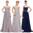 Long Chiffon Bridesmaid Evening Cocktail Prom Dress Formal Xmas Party Ball Gown