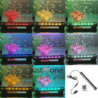 RGB Aquarium Underwater Fish Tank Plant Bubble Light Lamp + Remote 16/ 31/ 47cm