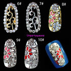 2Pcs Dazzling Aulic Rhinestones Hollowed-out Design UV Gel 3DNail Art Decoration