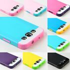Film + Hybrid Best Impact Dual Layer Case Cover For Samsung Galaxy S3 SIII i9300