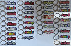 NEW SWIBCO female names starting with letter A name key chain - choose color