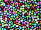 Quality Round Mixed Colour 3D Illusion Miracle Beads Jewellery Various Size's ML