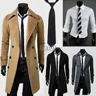 Sexy Mens Shirt Winter Trench Coat Slim Long Jacket Double Breasted Overcoat Hot