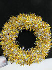 """PMS 9.5"""" TINSEL WREATH IN FOUR COLOURS 051/489"""