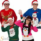 Men's Ladies Novelty Knitted Christmas Jumper Sweater Reindeer Penguin Tops S-XL