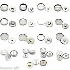 Shank Wire Back Cover Metal Buttons Aluminium Tone M1062