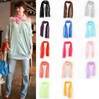 Hotsale Women Candy Color Thin Long Crinkle Design Soft Scarf Shawls Wrap Stole