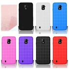 For ZTE Source N9511 Cricket Cover Candy TPU Gel Rubber Case + Screen Protector