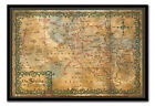 The Hobbit Map Of The Shrine Framed Cork Pin Memo Board Includes Pins