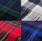 Edinburgh 100% Lambswool Tartan Scarf,  Available in many colours!
