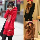 Womens Long Sleeve Casual Hoodie Sweatshirt Tops + Short Pants Track Suit Set