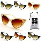 E430-VP (MV) Cateye  Crystal/Studded/  Teacher Retro Vintage Womens Sunglasses
