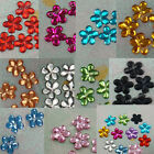 100 Acrylic 10mm Flower Rhinestone Craft Scrapbooking Pick 11 Color
