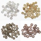 New Charm 400pcs Tibetan Antique Silver/Bronze/Golden Daisy Spacer Bead 4mm