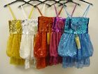 BNWT Girls Sequin Boob Tube Puffball Party Dance Dress Ages 4 to 11-12