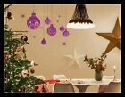 Large Christmas Ball Show Window Shopwindow Wall Art Decoration Sticker