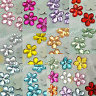 1000 Acrylic 15mm Flower Rhinestone Scrapbooking Favor wholesale 10 color pick