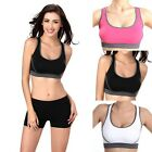 Women Padded Cross Gym Yoga Dance Fitness Running Crop Top Sports Bra Underwear
