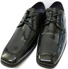 Men's Black Patent Lace Up Shoes A2072