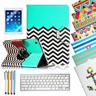 For New Apple iPad 5 5th Gen Air Leather Case Cover  Wireless Bluetooth Keyboard
