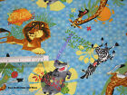 1/2 yard Madagascar Animals Cotton Quilting Fabric *Choose your favourite design