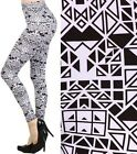 New Leggings Mixed Prints Animal Cheetah Leopard Shiny Zipper Fashion Central
