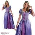 FANCY DRESS COSTUME ~ LADIES DISNEY PRINCESS TANGLED RAPUNZEL SIZES 8-18