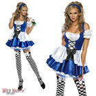 FANCY DRESS COSTUME # FEVER ALICE WONDERLAND OUTFIT SIZES 4-18
