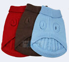 BLUE CUTE KNITTED DOG JUMPER SWEATER PET CLOTHES FOR SMALL DOGS S M L