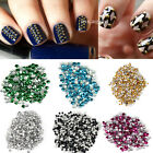 500-1000pcs Nail Art Metallic Studs 3D Gold Silver Manicure Tips Decoration DIY