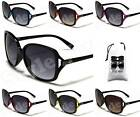D1153-vp WOMENS DG EYEWEAR THIN FRAME OVERSIZED vintage classic SUNGLASSES+POUCH
