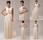 Unique Women Chiffon Party Wedding Bridesmaid Evening Formal Gown Prom Dress New