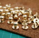 New 7MM screw rivet 30pcs Round headed Solid brass Chicago for leather belt bags