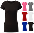 Womens Plus Size Plain Basic T Shirt Ladies Cap Sleeve Top Size UK 16 18 20