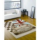 Retro Funky Prix Flair Rugs Car Mini Cooper Modern Quality Sizes Oblong Rug