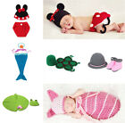 Animal Toddler Baby Crochet Knit Beanie Photography Props Hat Cap Costume Sets