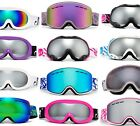 Women Snow Ski Winter Goggles White Brown Pink Many Colors Anti Fog Dual Lens