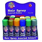Hair Colour Spray Blue Black Gold Green Red Silver Yellow 125mls
